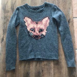 Aritzia Talula fox angora sweater